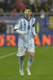 Lionel Messi retade med en laser royaltyfri bild