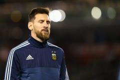 Lionel Messi sorgsenhet royaltyfri fotografi