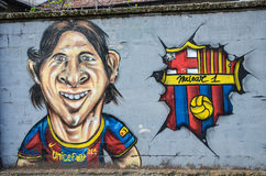Lionel Messi on the wall Royalty Free Stock Photos