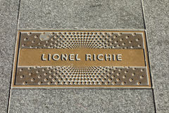 Lionel Richie Plaque Fotos de Stock