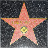 Lionel Richies star on Hollywood Walk of Fame Stock Photo