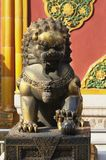Lioness in Forbidden City. A mitological Lioness in Forbidden City (Beijing - China Stock Photography