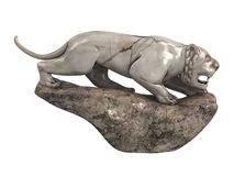 Lioness_statuette Royalty Free Stock Image