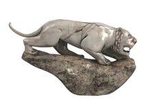 Lioness_statuette ilustração do vetor
