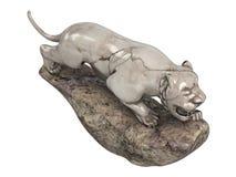 Lioness_statuette ilustração stock