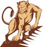 lionesskringstrykande Arkivbilder