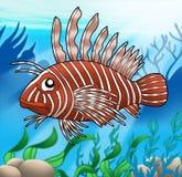 Lionfish no mar Imagens de Stock