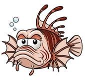Lionfishkarikatur Stockfoto