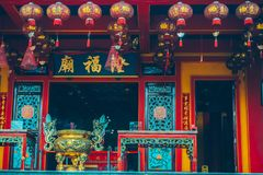 Liong Hok Bio konghucu worship place in Indonesia. Worship place china in Indonesia. The temple is the place of worship of the Confucian religion royalty free stock photo