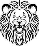 Lionhuvudtatuering Royaltyfri Bild