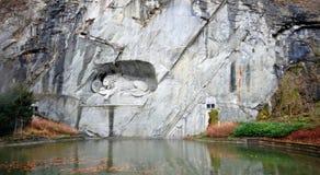 lionluzern monument switzerland Royaltyfri Bild