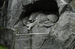Loewendenkmal Luzern Lionmonument Arkivbilder