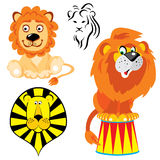 Lions. Set of  images of lions in different styles Royalty Free Stock Image