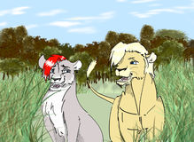 lions illustration libre de droits