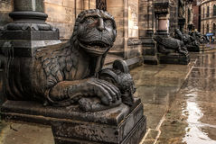 Lions in Bremen, Germany Stock Photo