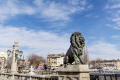Lions Bridge in Sofia Stock Images