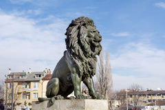Lions Bridge in Sofia Stock Images