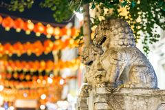 Lions of China town in Soho, London. UK Royalty Free Stock Image