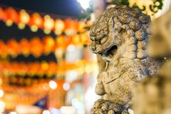 Lions of China town in Soho, London Stock Images