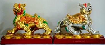 Lions chinois de gardien Photographie stock