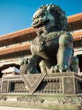 Lions closeup on Tiananmen Square near Gate of Heavenly Peace- the entrance to the Palace Museum in Beijing (Gugun) Stock Photography