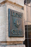 Lions club sign Stock Photo