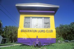 A  Lions Club trailer roadside in Bradenton, Florida Stock Photo
