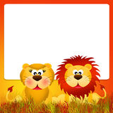 Lions couple Royalty Free Stock Images