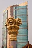 Lions d'or Jing un temple Changhaï Chine photos stock