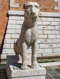 Lions de l'arsenal vénitien image stock