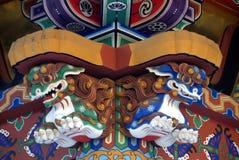 Lions de mausolée de Zuihoden Image stock