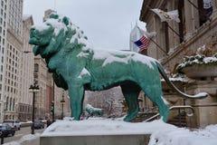 Lions de neige Images libres de droits
