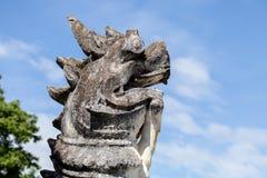 Lions en pierre Image libre de droits