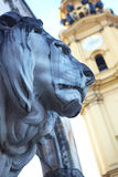 Lions at Feldherrnhalle Stock Photo