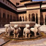 Lions Fountain, Alhambra Palace, Spain. royalty free stock image