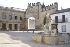 LIONS FOUNTAIN IN BAEZA. JAEN royalty free stock images