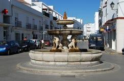 Lions fountain, Conil de la Frontera. Stock Image
