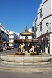 Lions fountain, Conil de la Frontera. Royalty Free Stock Photography