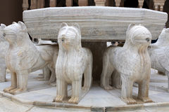 Lions Fountain In Alhambra Royalty Free Stock Photos