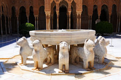 Lions fountain Stock Images