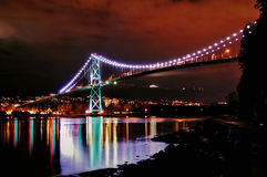 Lions Gate Bridge Stock Photography