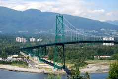 Lions Gate Bridge. In Vancouver, Canada royalty free stock photos
