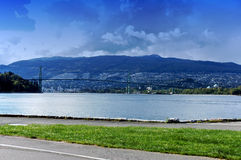 Lions Gate Bridge,Canada royalty free stock images