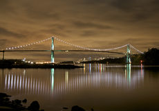 Lions Gate Bridge Lights Royalty Free Stock Image