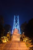 Lions Gate Bridge Night Scene Stock Photos