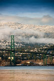 Lions Gate Bridge, North Vancouver Stock Photo