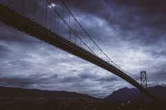 Lions Gate Bridge from Stanley Park Royalty Free Stock Images