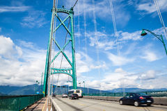 Lions Gate Bridge at Stanley Park in Vancouver Royalty Free Stock Photo