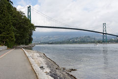 Lions Gate Bridge in Vancouver Stock Images
