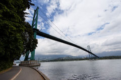 Lions Gate Bridge in Vancouver Royalty Free Stock Image